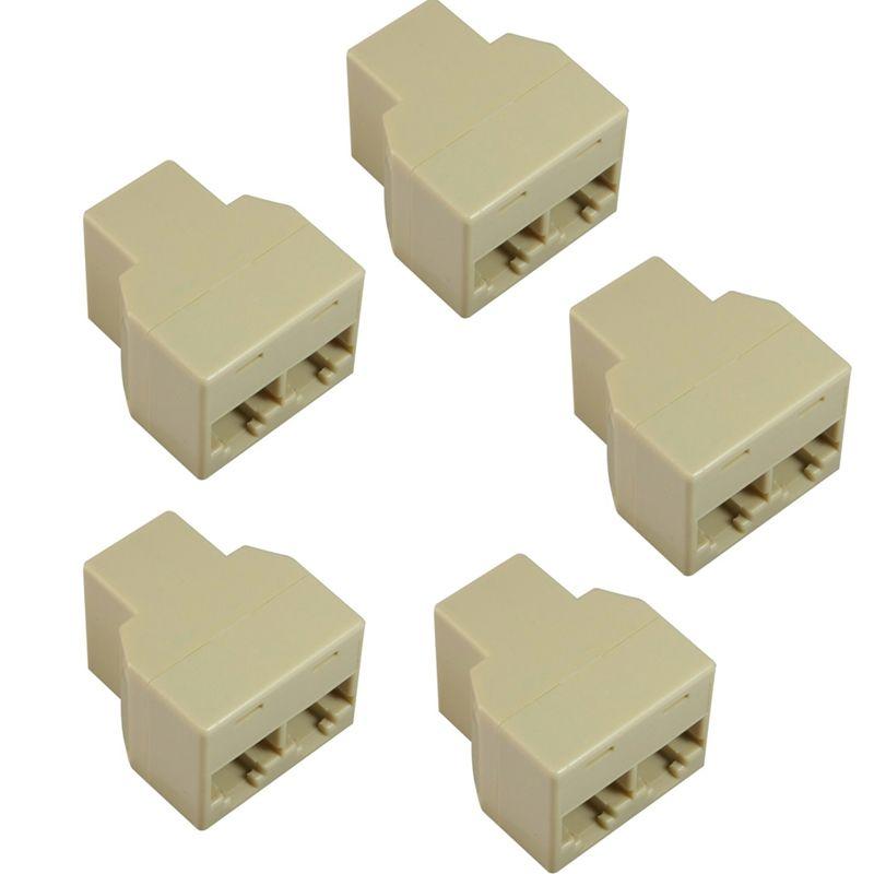 Insten 5x RJ45 CAT 5 6 LAN Ethernet Splitter Connector Adapter PC Laptop