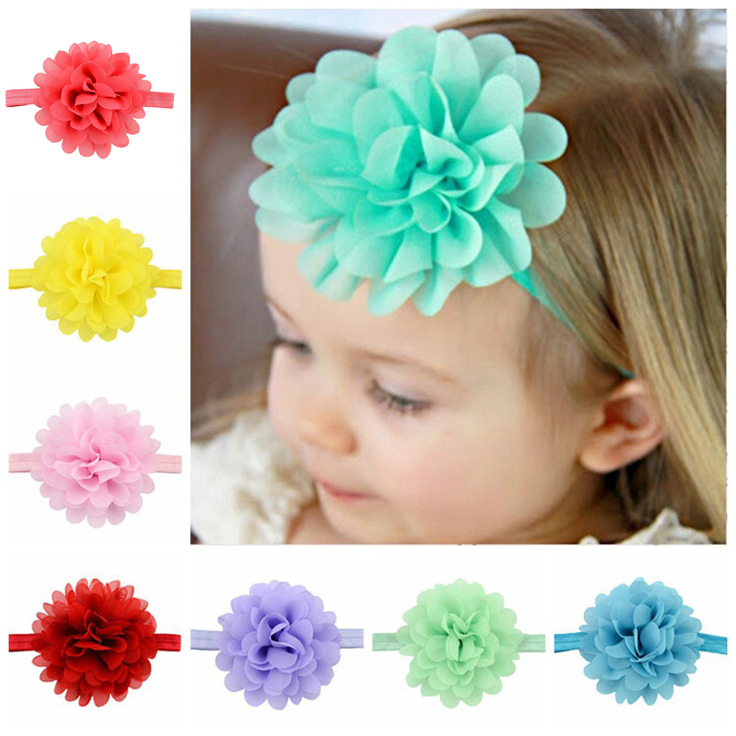 Baby Girls Headband, Coxeer 12 Pieces Ribbon Hair Bows Clips Cute Flower Headbands For Chirld Girls Kids (Colorful)