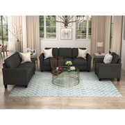 Living Room Sofa Sets,3 Piece Sofa Couch Set for Living Room,Sectional Sofa Sets for Living Room Furniture Sets,One 3-Seat Sectional Sofa & 1 Loveseat & 1 Single Chair