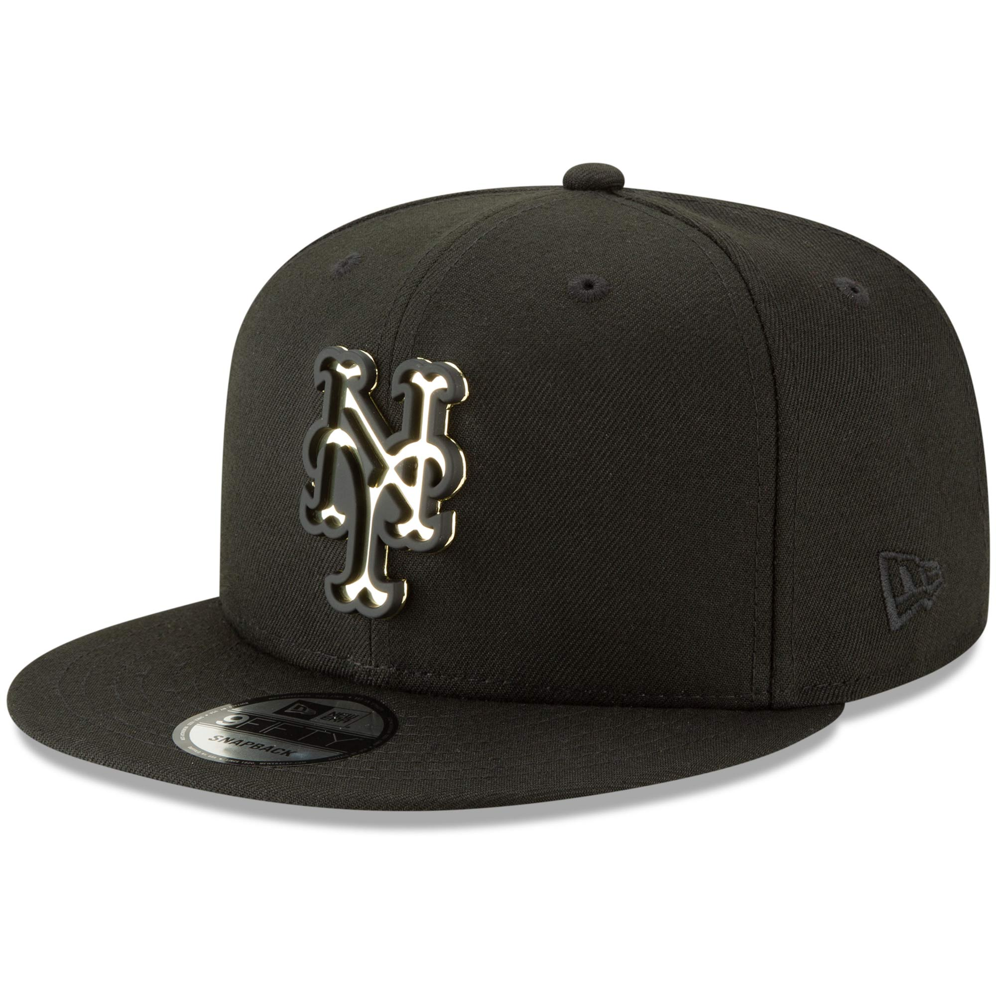 New York Mets New Era Metal Stack 9FIFTY Adjustable Hat - Black - OSFA