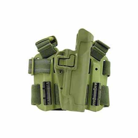 BlackHawk Level 2 SERPA Holster fits 1911 Government with or without Rail, Right Hand, OD Green