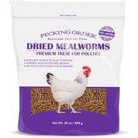 Pecking Order Dried Mealworms for Chickens, 30 oz.