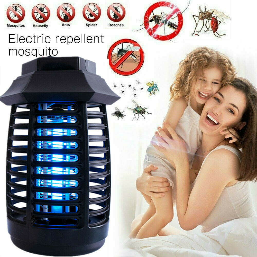 2020 Electric UV Mosquito Killer Lamp Outdoor//Indoor Fly Bug Insect Zapper Trap