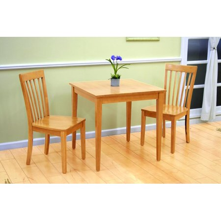 "Tanya 3 Piece Maple Wood Shaker 30"" Square Kitchen Dinette ..."