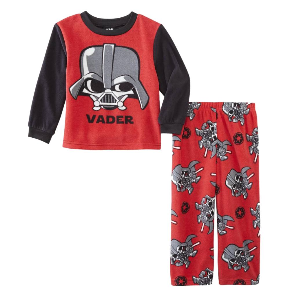 Star Wars Toddler Boys Red Darth Vader 2-Piece Fleece Pajama Set