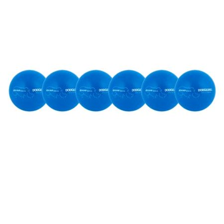 Champion Sports Rhino Skin Dodgeball Set - Low Bounce, Neon Blue