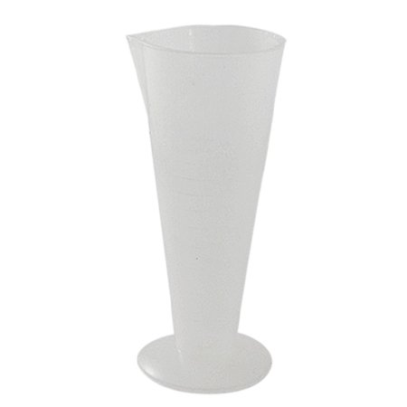 Unique Bargains 50Ml Conical Clear White Plastic Graduated Measuring Cup Jug Lab Set