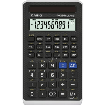Casio FX- 260 SOLAR II Scientific Calculator, LCD Display,