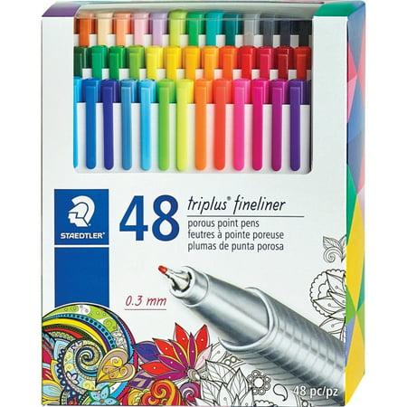 Staedtler Triplus Colour - Staedtler Triplus Fineliner Porous Point Pens (334c48)
