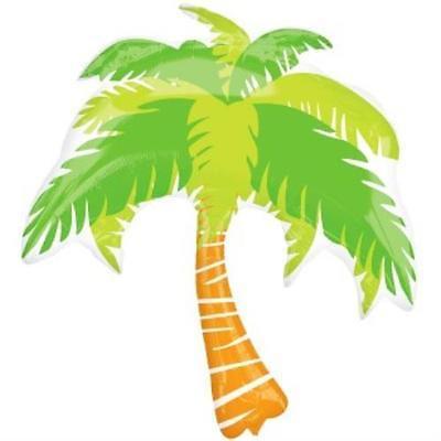 Palm Tree 33-Inch Foil Balloon, 2PK (Foil Palm Tree Silhouette)