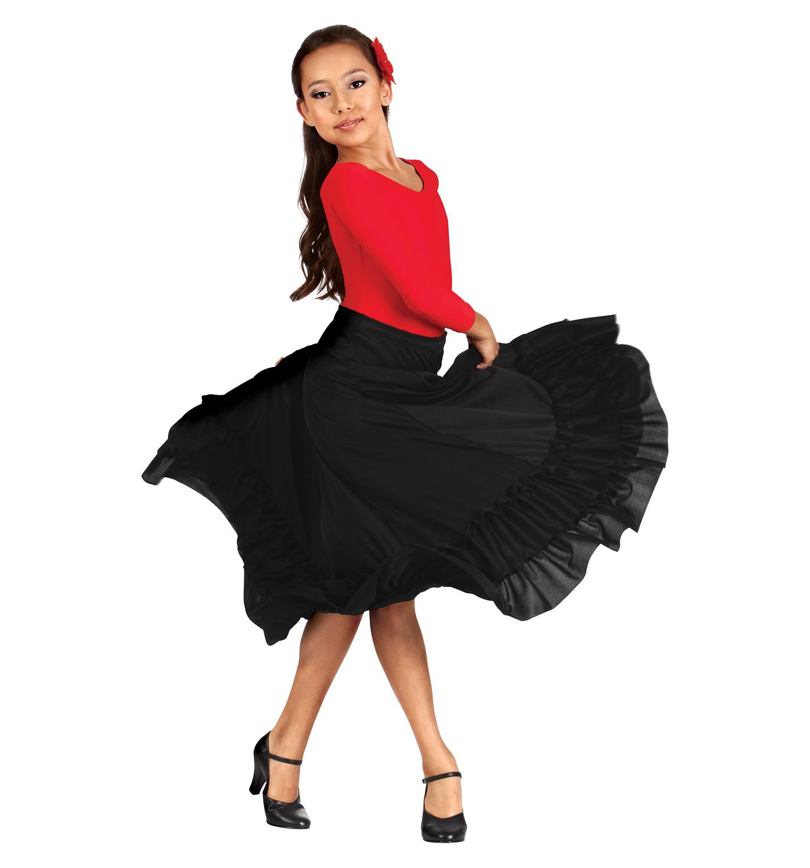 sc 1 st  Walmart & Girls Flamenco Skirt - Walmart.com