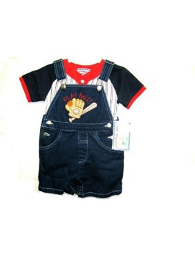 525baba7bd5 Product Image Infant Sizes 12M 18M 24M Denim Embroidery Shortall 2-PC Sets.   . Cheerful Kids