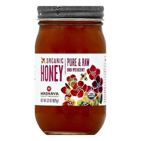 Madhava Organic Honey, 22 OZ (Pack of 6)