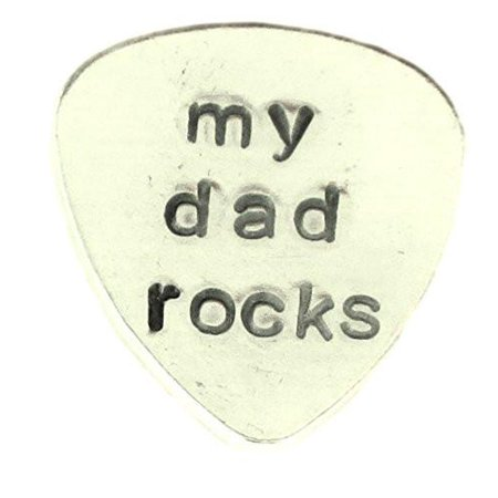 Aluminum Guitar Pick Traditional style - Personalized customized Hand Stamped...