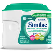 Similac for Supplementation Non-GMO Baby Formula, 4 Count Powder, 1.45-lb Tub