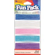 Cousin Fun Pack Stretch Cord, 25 Yards/pkg, Sparkle