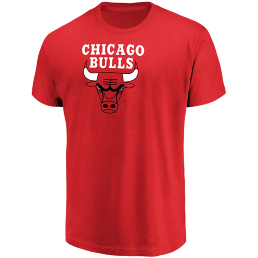 Men's Majestic Red Chicago Bulls Victory Century T-Shirt