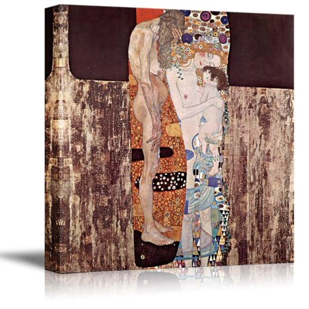 Three Ages Of Woman by Gustav Klimt Giclee Canvas Prints Wrapped Gallery Wall Art | Stretched and Framed Ready to Hang - 24