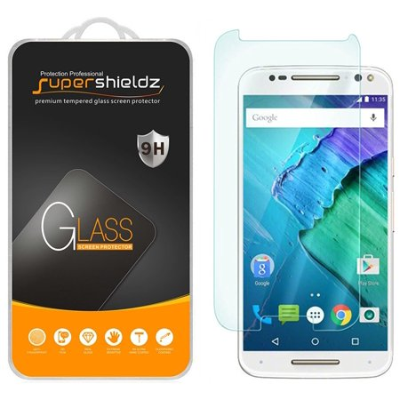 [1-Pack] Supershieldz for Motorola Moto X Pure Edition Tempered Glass Screen Protector, Anti-Scratch, Anti-Fingerprint, Bubble Free (E14 Glass)