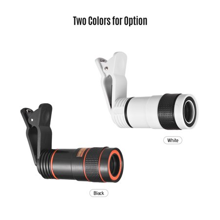 8X Zoom Optical Smartphone Telephoto Lens Portable Mobile Phone Telescope Lens with Clip Universal for HUAWEI ...