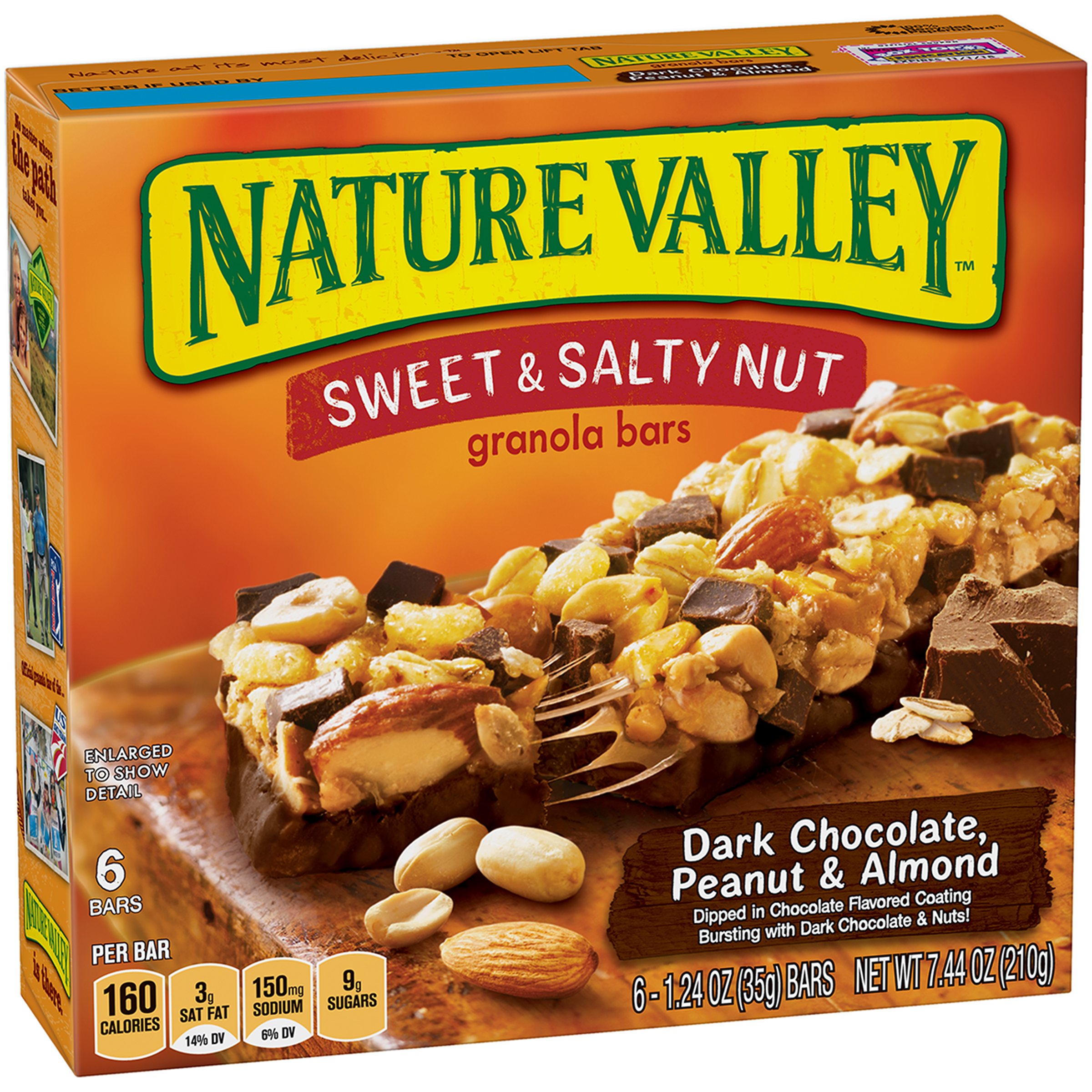 Nature Valley��� Dark Chocolate, Peanut & Almond Sweet & Salty Nut Granola Bars 6 ct Box