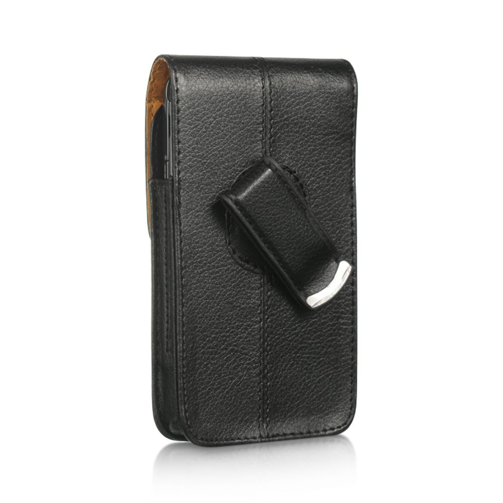 Insten Vertical Pouch Leather Cover Protective Case For HTC One M7 - Black - image 1 de 3