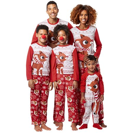 LMart Christmas Family Matching Pajamas Sets Christmas Series Outfit Sleepwear