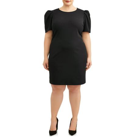 Women\'s Plus Size Short Sleeve Shift Dress