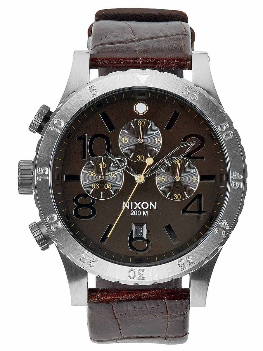 A3631887 Men's The 48-20 Chrono Brown Dial Brown Leather Strap Lefty Dive Watch