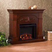 Salerno Electric Fireplace-Mahogany