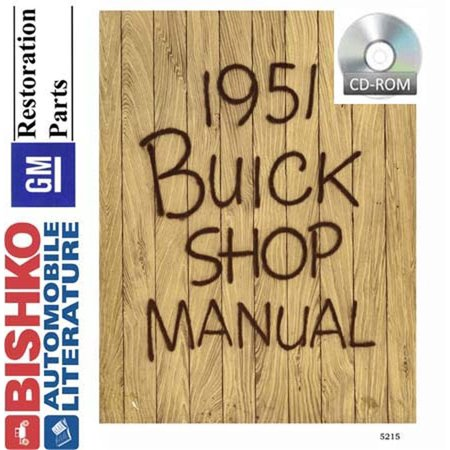 Bishko OEM Digital Repair Maintenance Shop Manual CD for Buick All Models 1951