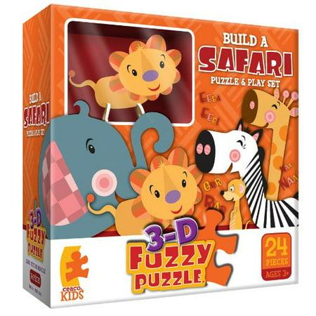 Build A Safari Fuzzy Jigsaw Puzzle, 24 Piece Puzzle By Ceaco ()