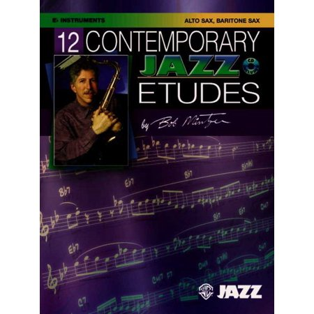 12 Contemporary Jazz Etudes: 12 Contemporary Jazz Etudes: E-Flat Instruments (Alto Saxophone, Baritone Saxophone), Book & CD (Paperback)