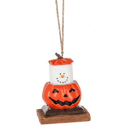 Smores Dressed in a Jack O Lantern Costume Christmas Holiday Ornament](Christmas Ornament Costume)