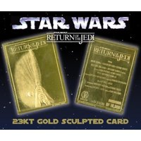 Star Wars RETURN OF THE JEDI Movie Poster 23KT Gold Card Sculptured #/10,000