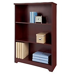 Realspace® Magellan Collection 3-Shelf Bookcase, Classic Cherry