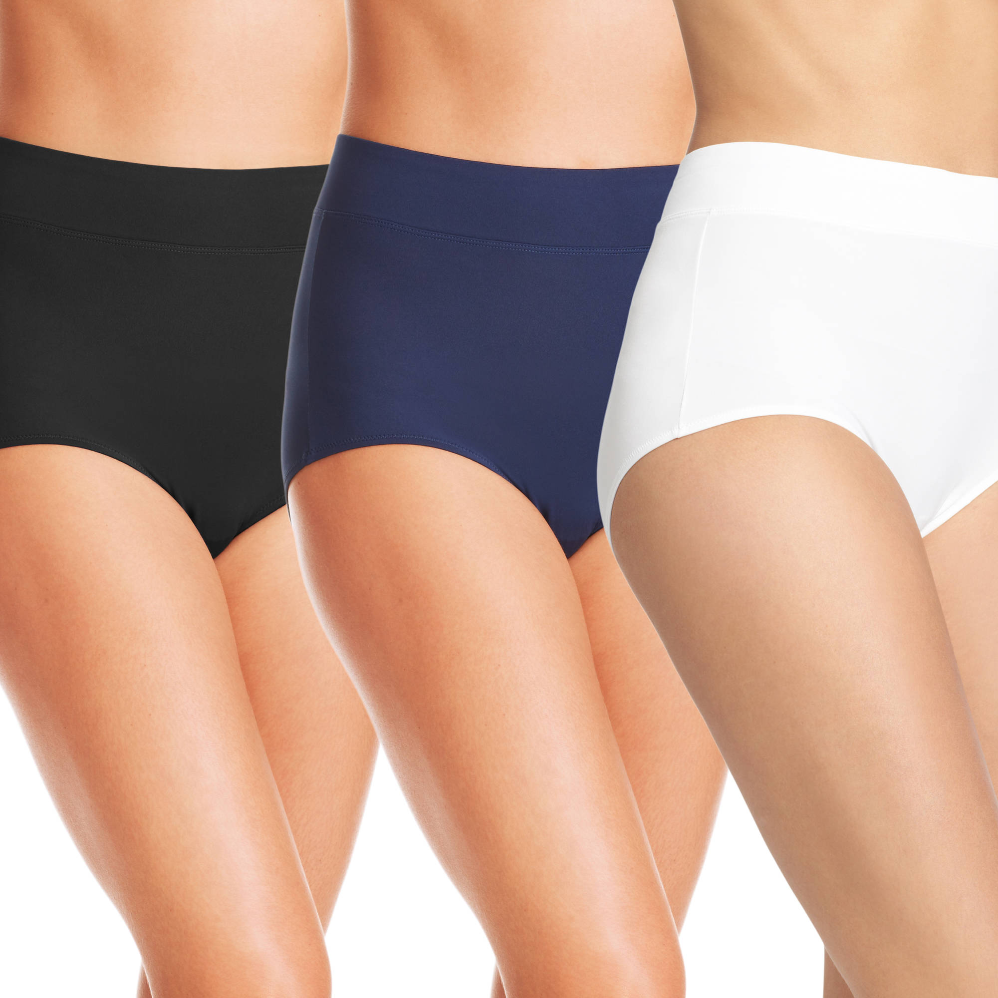 Blissful Benefits by Warner's No Muffin Top Brief Panties 3PK