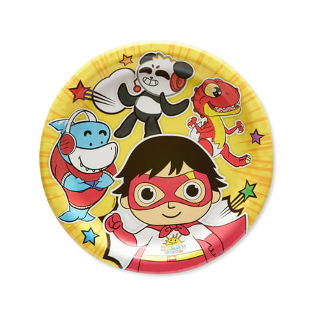 American Greetings Ryans World Paper Dessert Plates, 8-Count