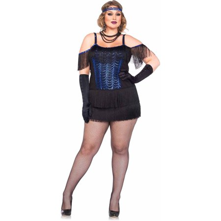 Leg Avenue 2-Piece Gatsby Flapper Adult Halloween Costume ...