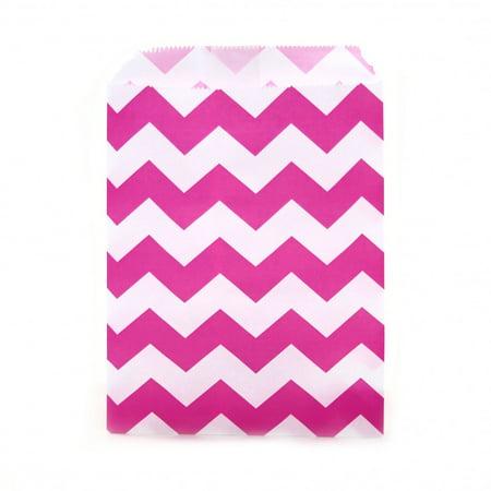 Dress My Cupcake 24-Pack Party Favor Bags, Chevron, Fuchsia Pink](Pink Safari Cupcakes)