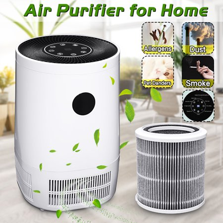 AUGIENB Desktop Air Purifier with 3 Stage Ture HEPA Filter Ionic for Smoke Odor Dust Remover Anti (Desktop Hepa Air Purifier)