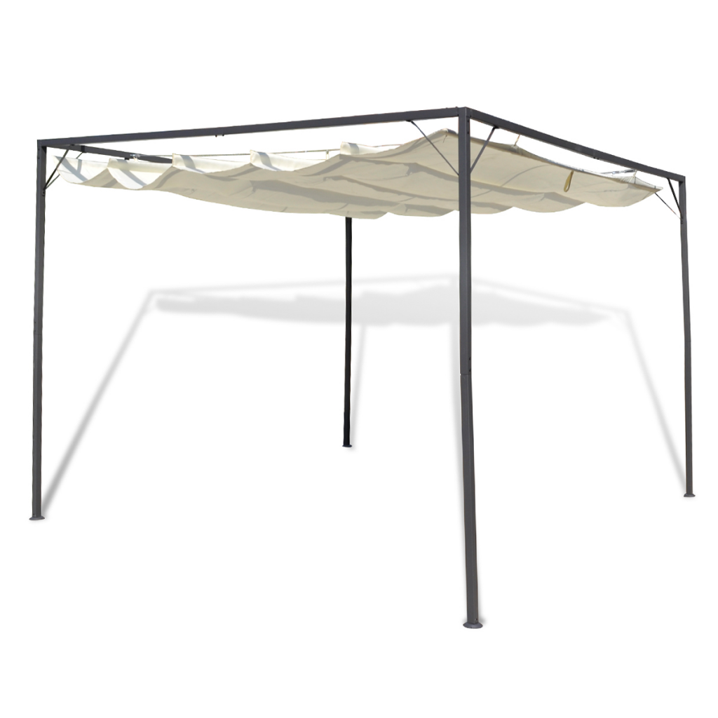Outdoor Patio Gazebo With Retractable Roof Canopy