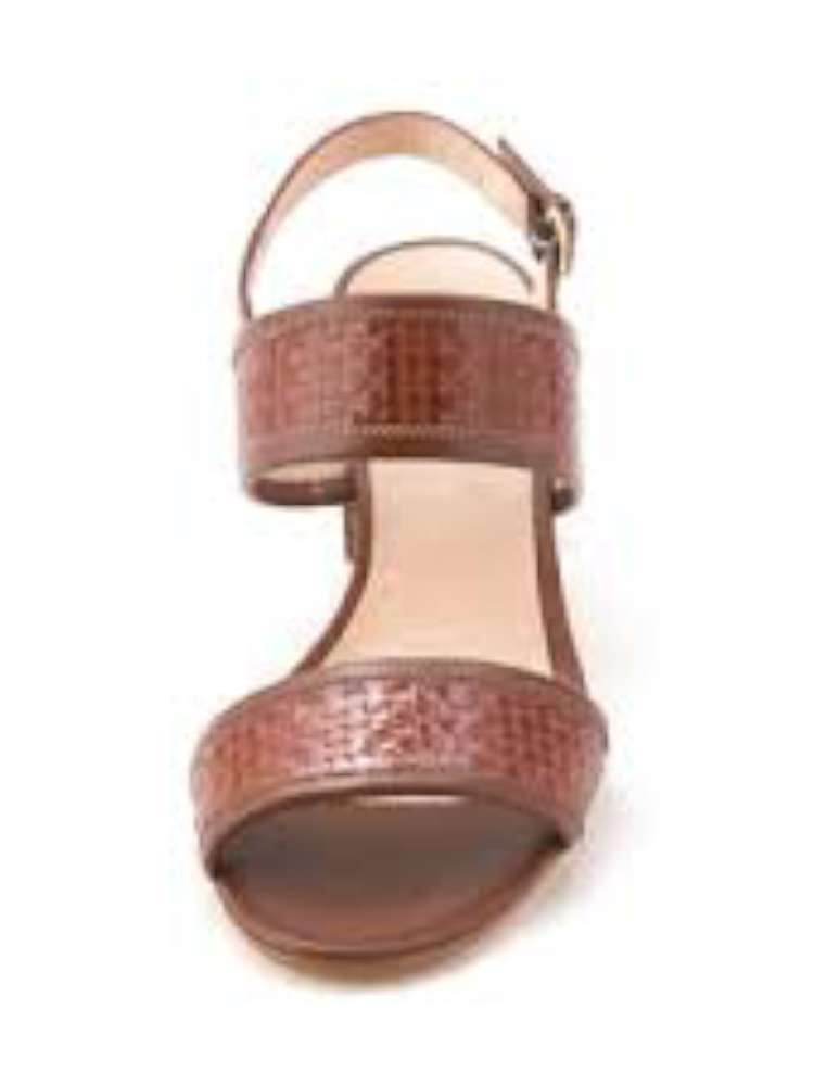 Amalfi by Rangoni Womens Latino Open Toe Casual Strappy, Cognac, Size 9.0 by Amalfi by Rangoni