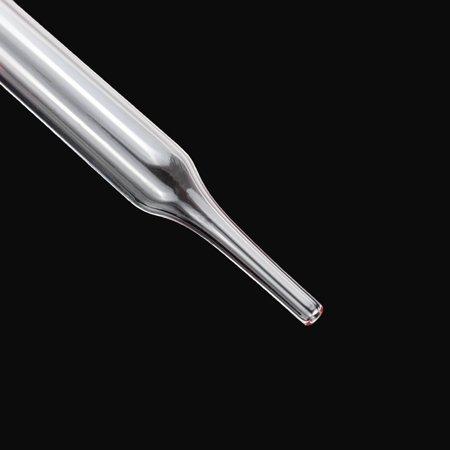 12 Pcs 10ml Glass Pipette Medicine Laboratory Dropper Red Rubber Head Pipet - image 2 of 6