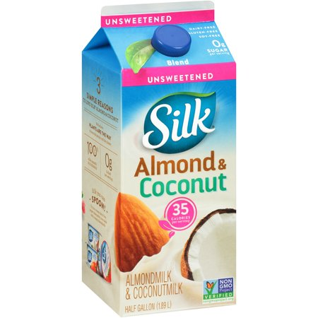 Silk Unsweetened Almond with Coconutmilk, Half Gallon ...