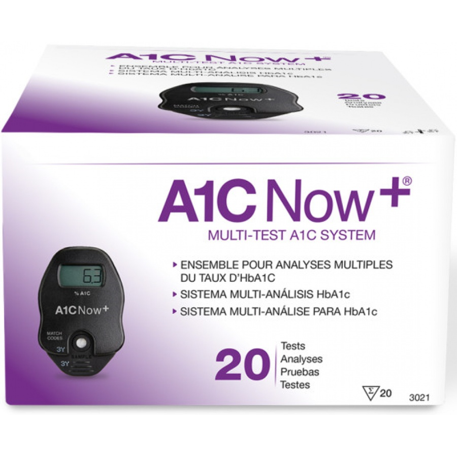 A1C Now+ Rapid Diagnostic Test Kit Diabetes Management Box of 20