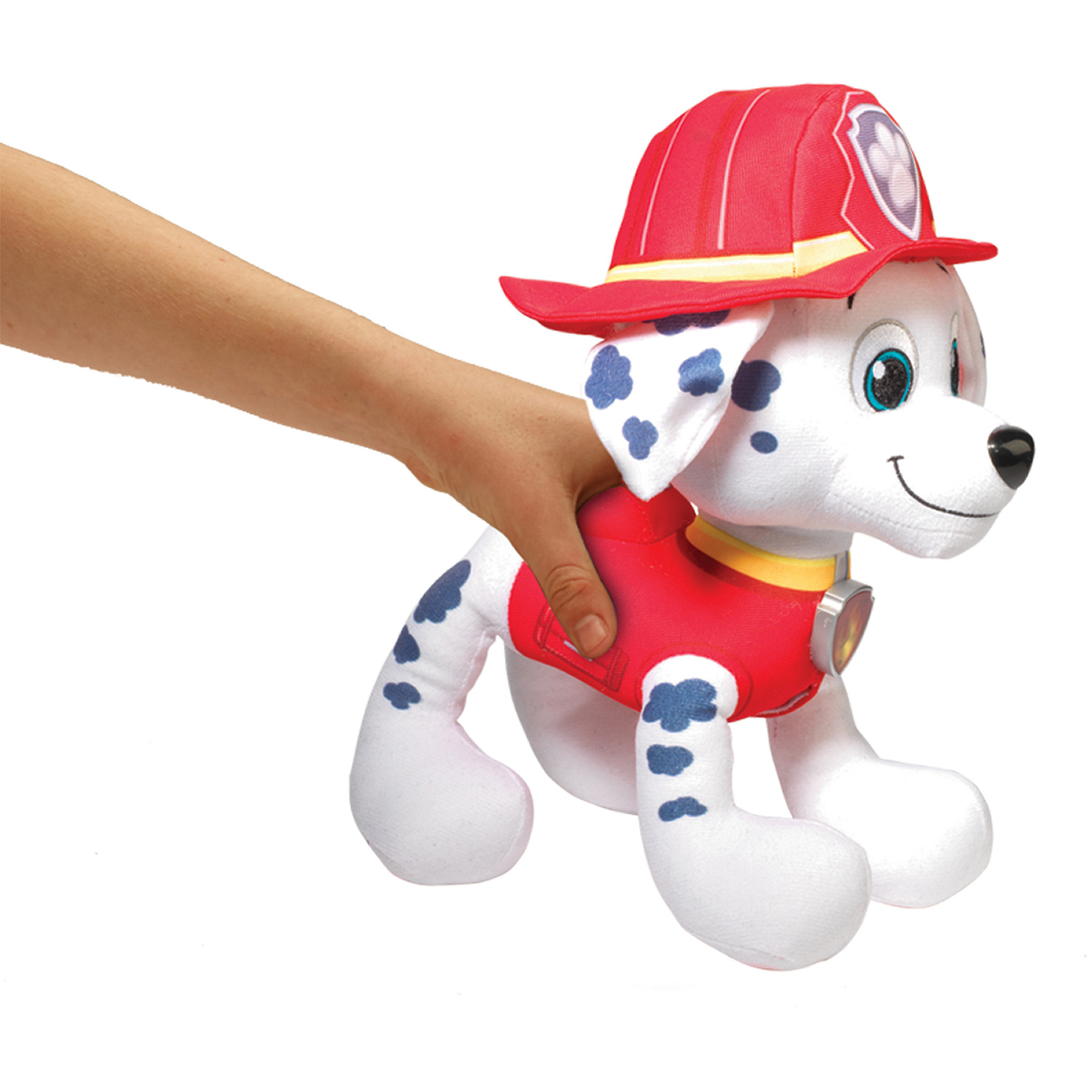 Paw Patrol- Deluxe Lights and Sounds Plush- Real Talking Marshall