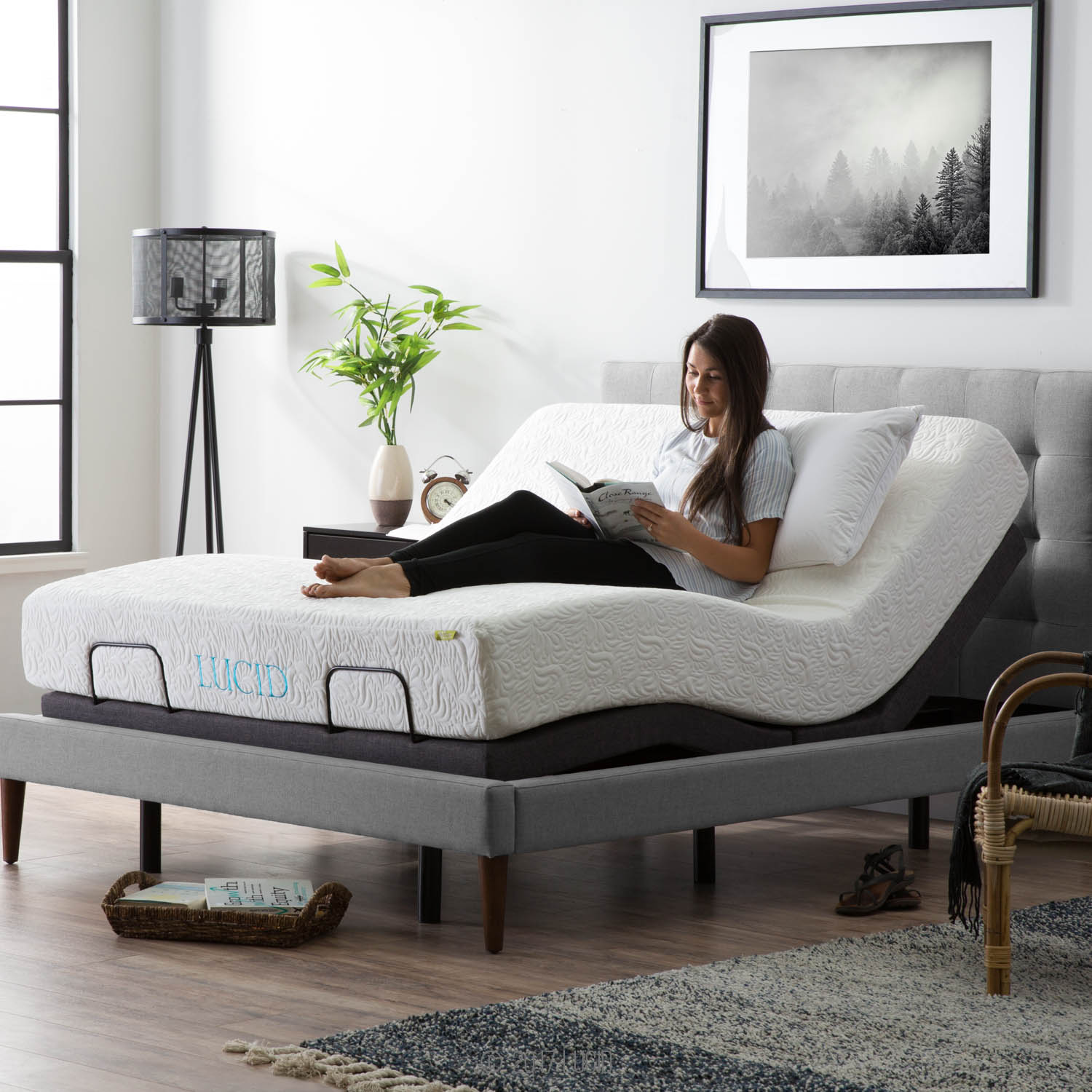 Adjustable Bed Base >> Lucid L300 Adjustable Bed Base With Dual Usb Charging Ports