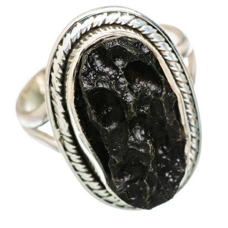 Ana Silver - Tektite Ring Size 9 (925 Sterling Silver) - Handmade