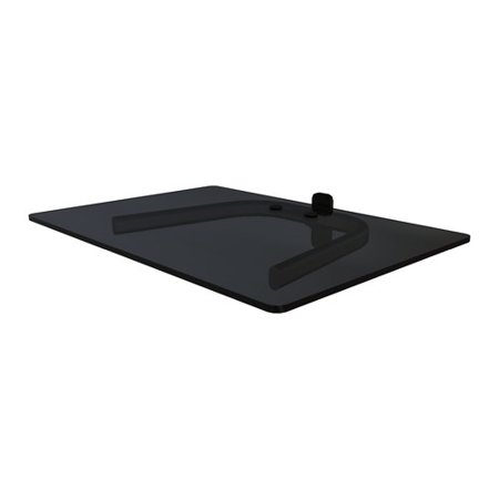 crimson av single shelf wall mount for tv components. Black Bedroom Furniture Sets. Home Design Ideas